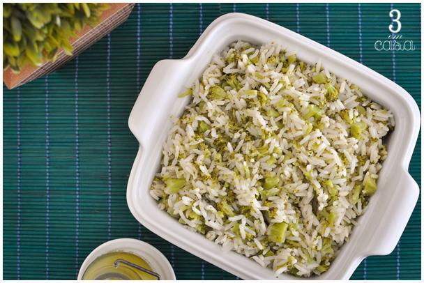 como fazer arroz brócolis