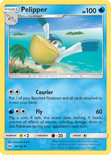Pelipper Sun and Moon Pokemon Card