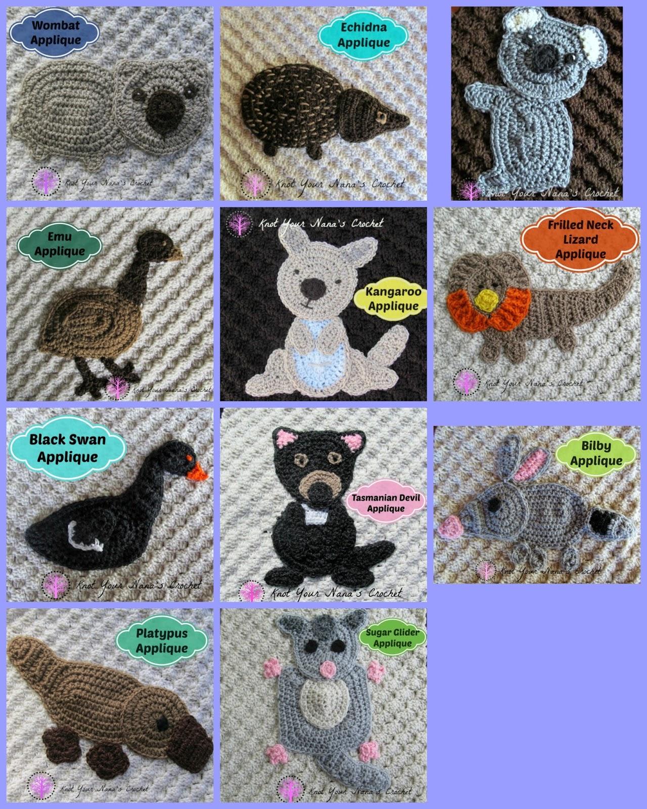 Knot Your Nanas Crochet Australian Animals Blanket