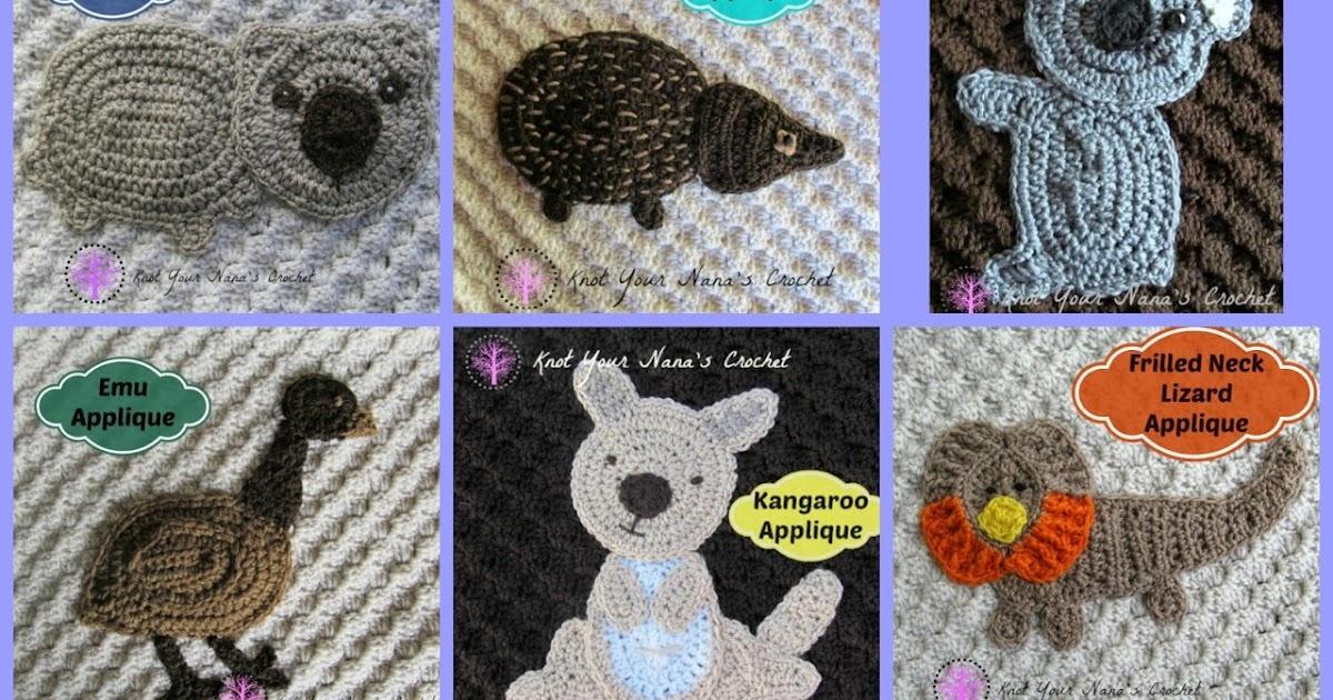 Knot your nanas crochet: australian animals blanket