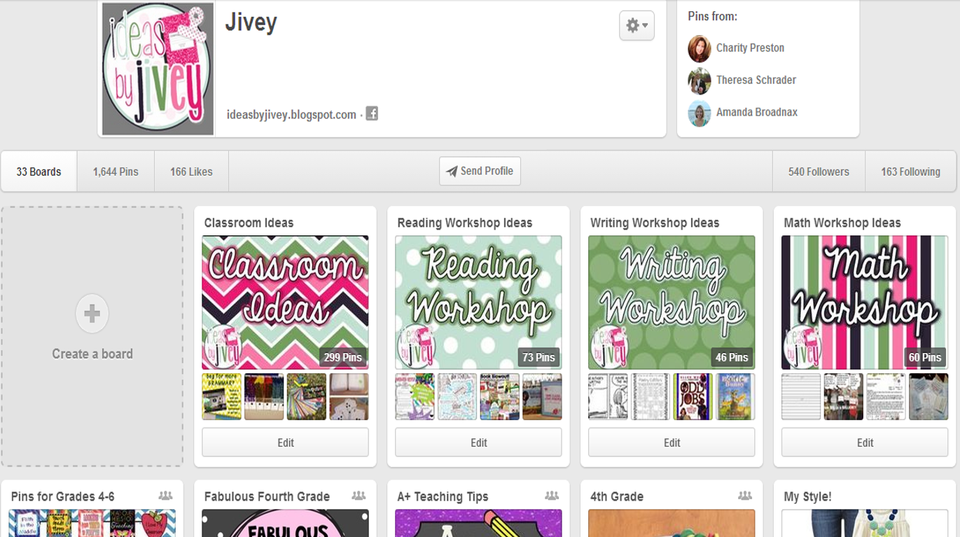 Pintrest Board Covers with Ideas by Jivey