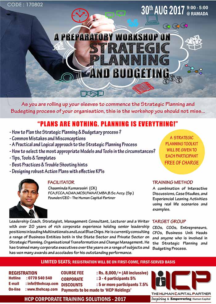 HCP | Strategic Planning and Budgeting Workshop.