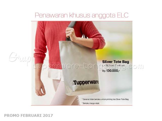 Silver Tote Bag Tupperware Promo Februari 2017