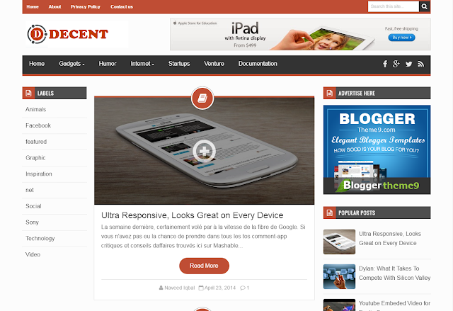 decent blogger template blogger theme 9 blogger templates