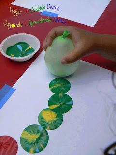 pintando con globo