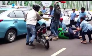 Video Pengroyokan Tukang Ojek Oleh Supir Taksi