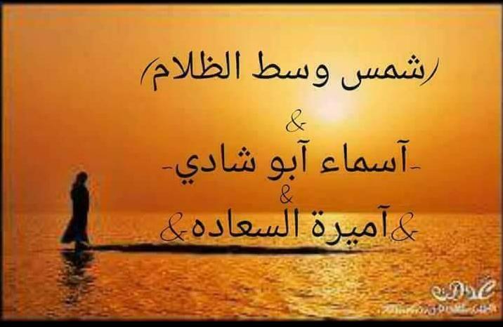 رواية شمس وسط الظلام - أسماء أبو شادي
