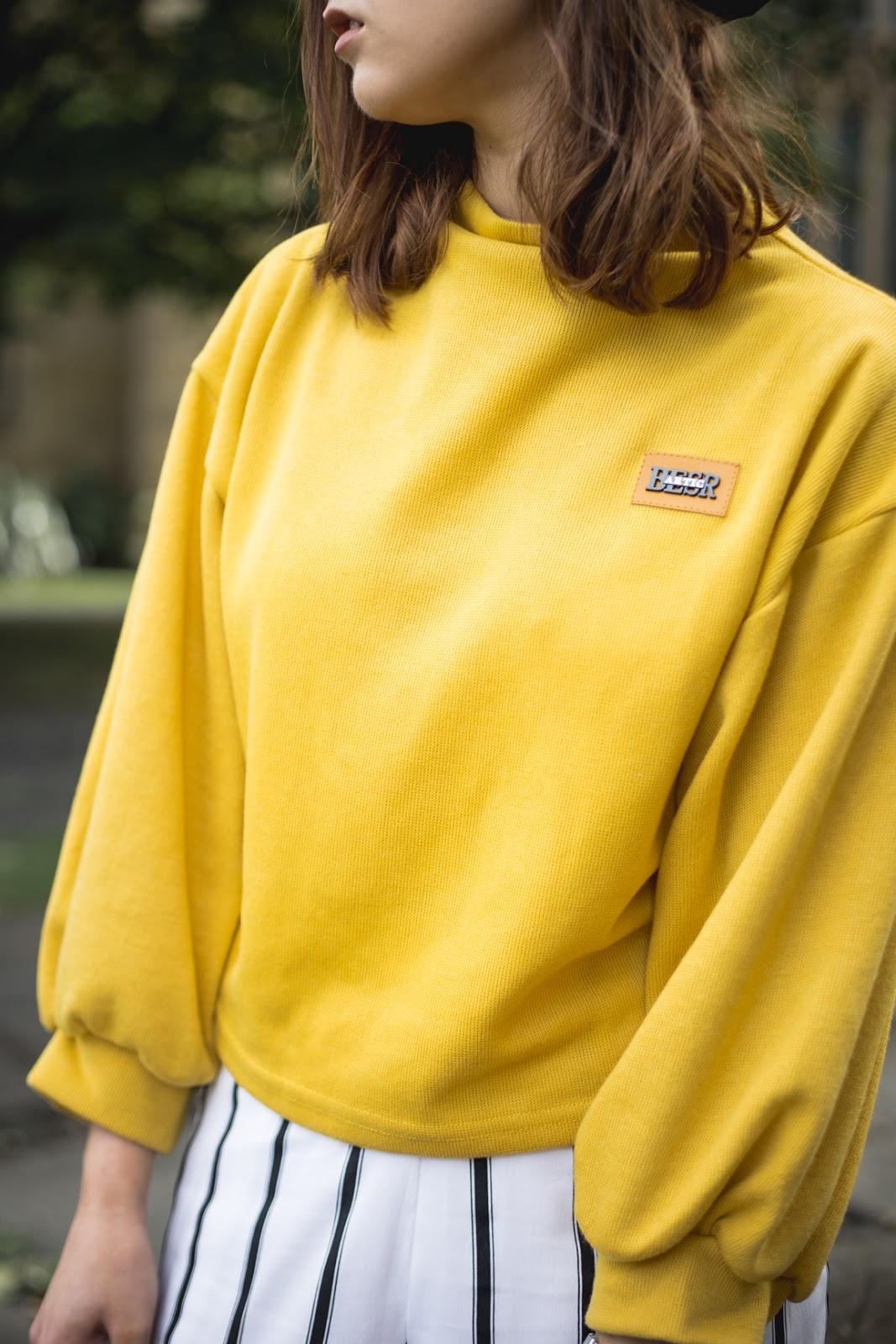 yellow romwe jumper