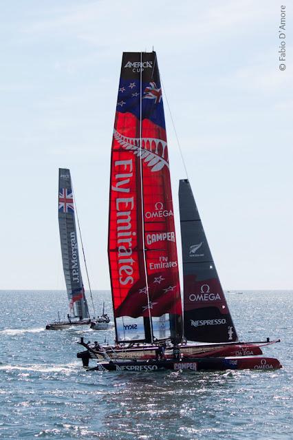 America's cup di vela-Napoli-New Zealand
