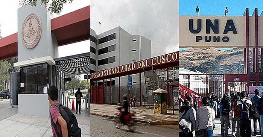 UNSA, UNA y UNSAAC entre las 20 mejores universidades a nivel nacional, según el ranking QS