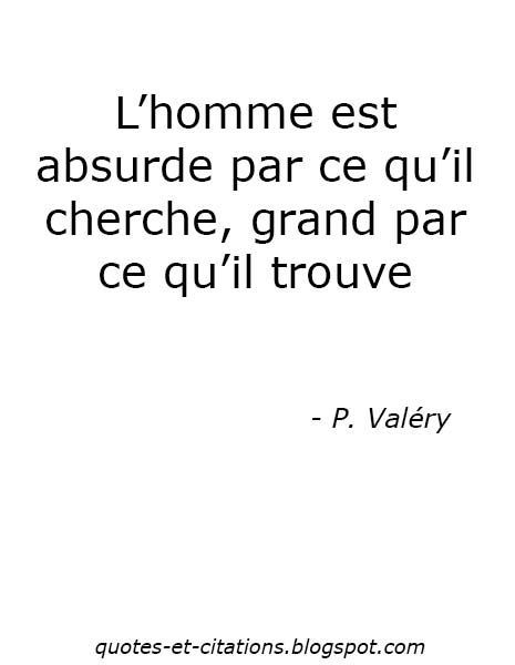 citation l'absurdité de l'homme