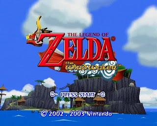 Captura de pantalla de título de The Legend of Zelda: The WindWaker (Nintendo GameCube, 2002)