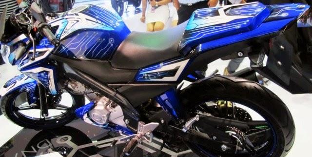 Modifikasi Motor Yamaha Vixion Blue