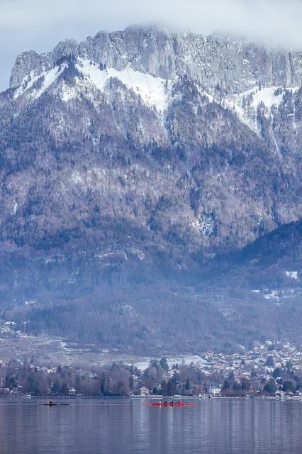 Canoe, lac d'annecy, sévrier, dents de lanfon, Alpes, Alps, haute savoie