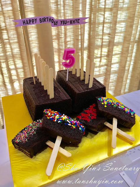 Khye's 5yo POPSICLE (No Cream) Birthday Cake