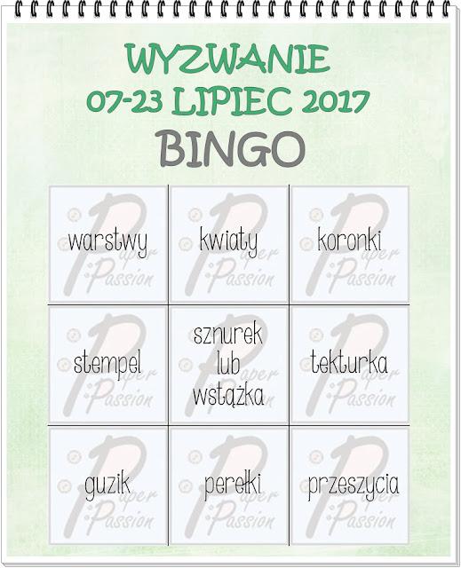 Paper Passion -bingo