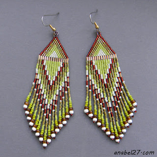 seed bead earrings beadwork beaded jewelry