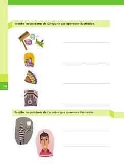 Apoyo Primaria Español 1er grado Bimestre 4 lección 14 Chapulín y La cebra