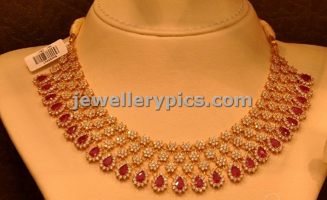 Ruby Diamond necklace designs by Malabar gold