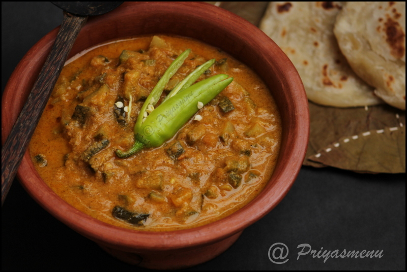 Salna for parotta using zucchini