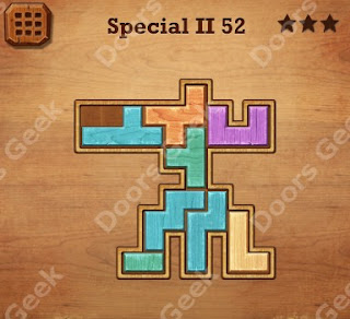 Cheats, Solutions, Walkthrough for Wood Block Puzzle Special II Level 52