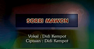 Lirik Lagu Sorri Mawon - Didi Kempot