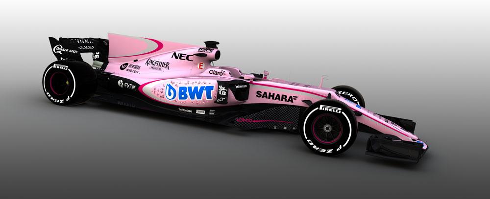 Force India lucirá una decoración rosa en 2017 gracias a un nuevo patrocinador