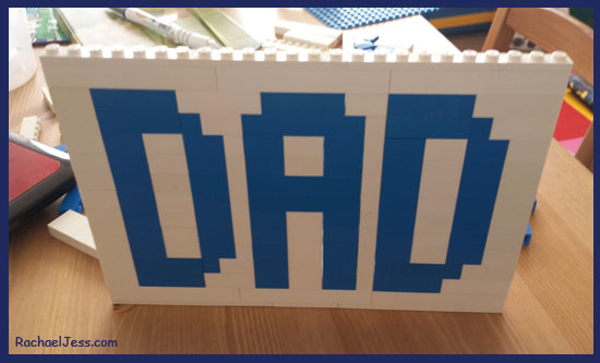 Building up the Lego Plaque for Father's Day