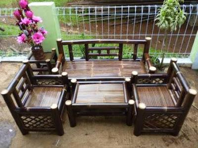 kursi dari kerajinan bambu