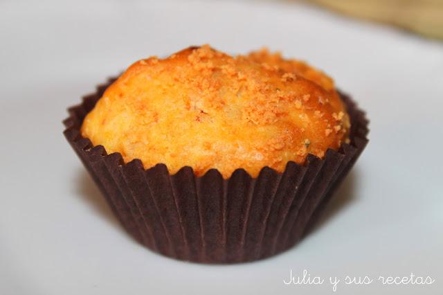 Muffins de chorizo y zanahoria. Julia y sus recetas