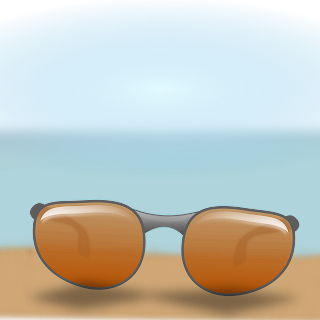 sunglasse on sand created in Inkscape