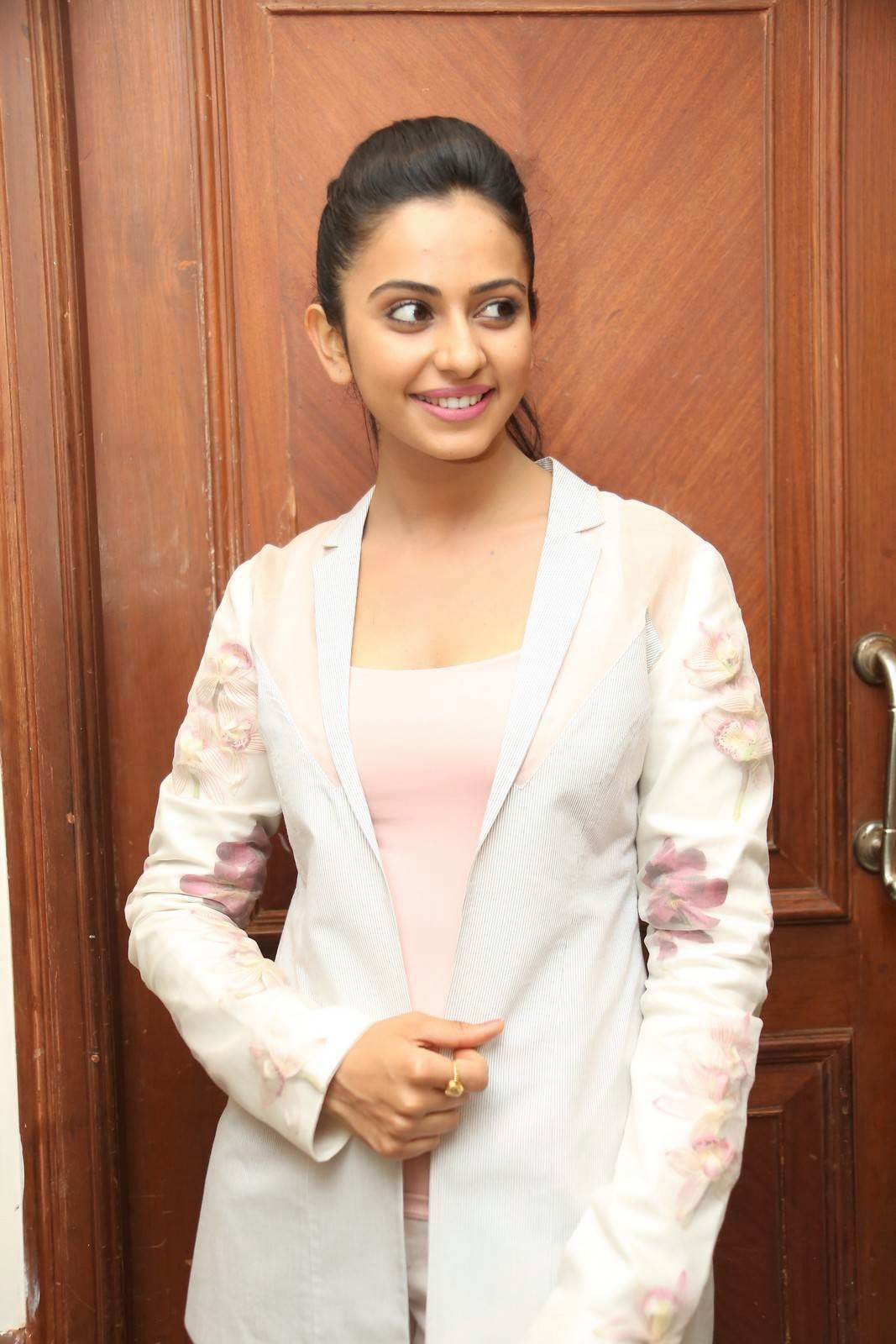 "Actress Rakul Preet Singh PhotoS IN Jeans at Rough Telugu Movie Audio Success Meet CelebsNext 1 - Tollywood Hot Star Rakul Dazzling Stills from ""Rough"" Movie Press Meet"