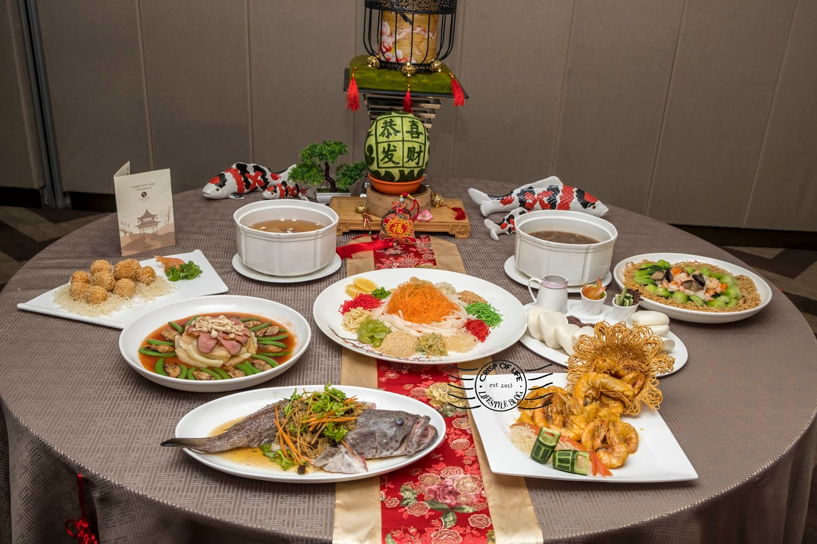 Chinese New Year 2019 Course Menu and Buffet Olive Tree Hotel Penang