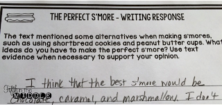 The Perfect S'more Writing Response