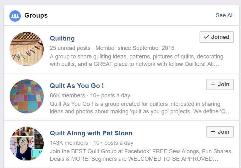 Jackie's Art Quilts: Facebook Groups - A Group for Every Quilter