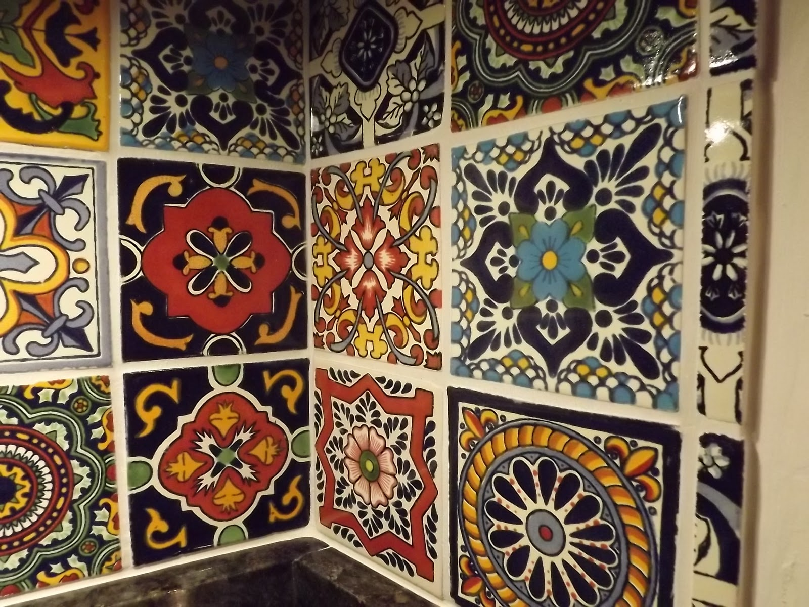 Mexican Talavera Tile Kitchen Backsplash