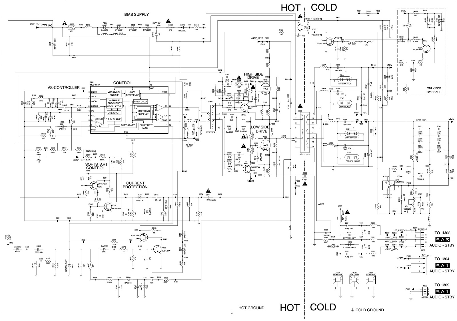 Control Regulation Circuit Remotecontrolcircuit Diagram On Off Remote Board Guide And Troubleshooting Of Wiring Philips 30 Inch 32 Lcd Tv Power Supply Regulator Smps Schematic Electro Help