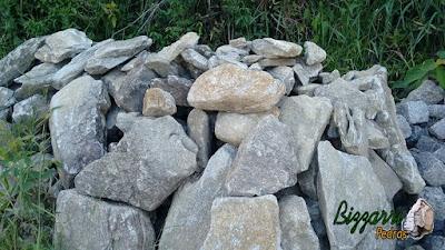 Pedra para alicerce da construção com pedra moledo.