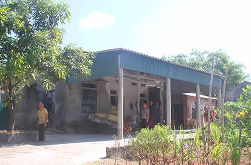 Căn nhà gia đình chị Hường sinh sống