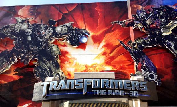 Simulador de Transformers en Universal Studios