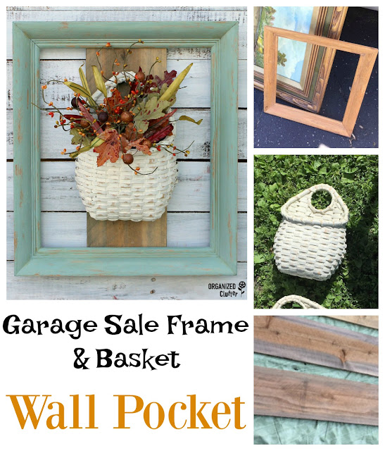 Garage Sale Purchases Re-purposed As A Wall Pocket