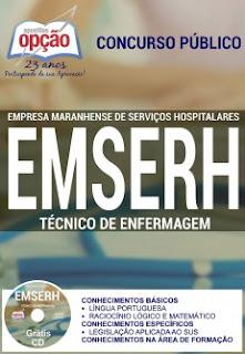 Apostila EMSERH TÉCNICO DE ENFERMAGEM concurso MARANHÃO 2016.