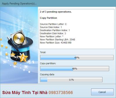 Quá trình Copy hệ điều hành Windows từ HDD sang SSD