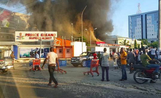 prince ebeano supermarket fire