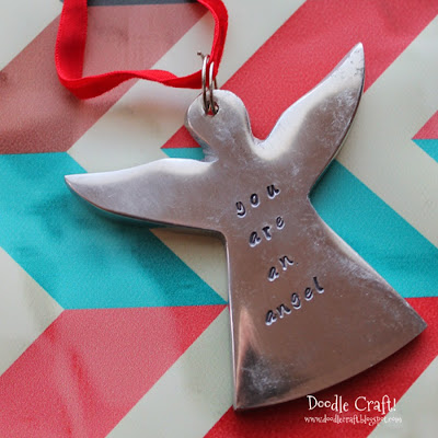 http://www.doodlecraftblog.com/2014/12/you-are-angel-metal-stamped-ornament.html