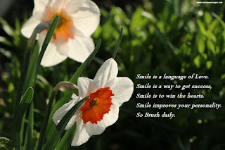 Smile is a language of Love. Smile is a way to get success, Smile is to win the hearts. Smile improves your personality. So Brush daily.