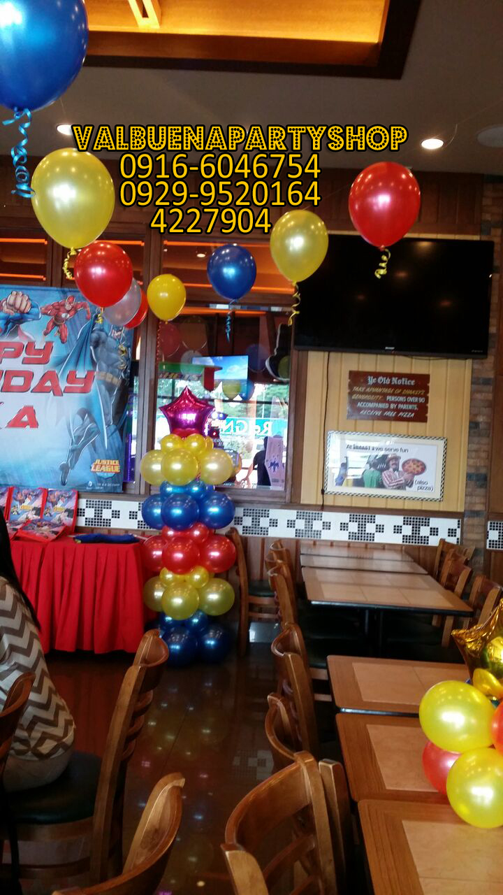 Valbuenapartyshop 39 s site balloon decor package justice for Balloon decoration packages manila