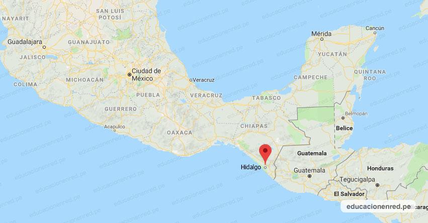Temblor en México de Magnitud 5.7 (Hoy Martes 04 Agosto 2020) Terremoto - Sismo - Epicentro - CD. Hidalgo - Chiapas - CHIS. - SSN - www.ssn.unam.mx