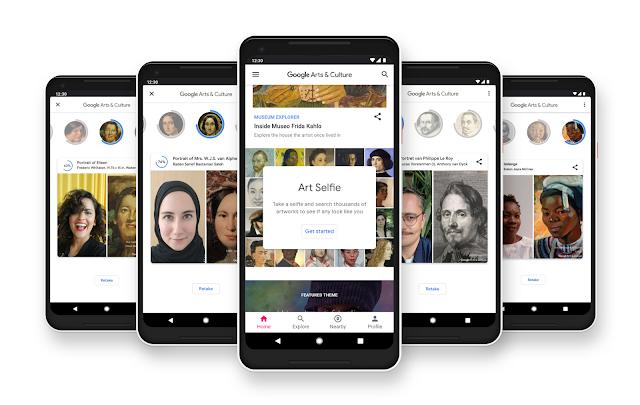 Smartphones, die Art Selfie anzeigen