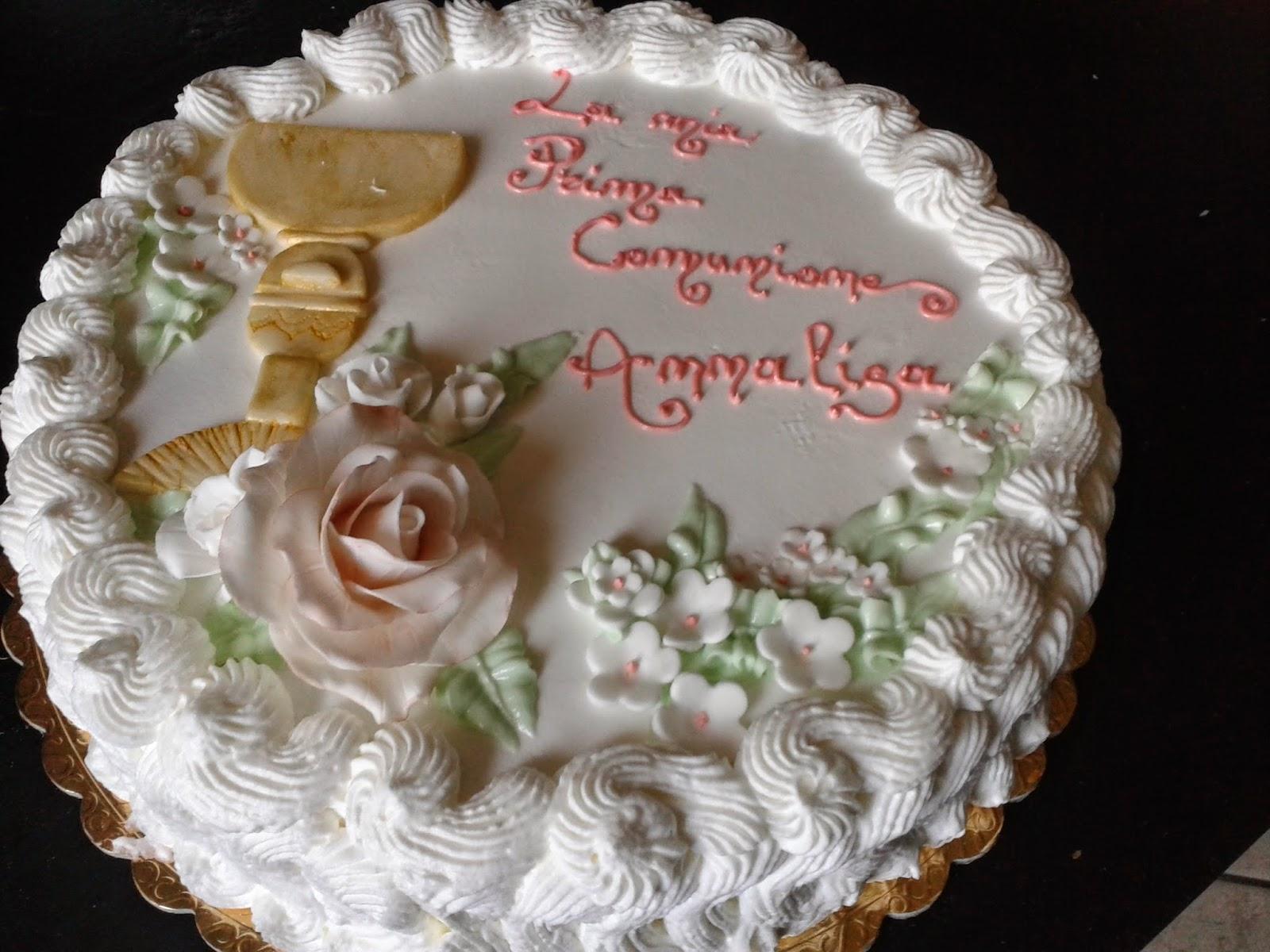 frasi su torta per comunione